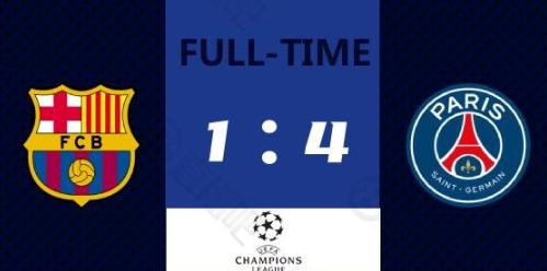 欧冠-姆巴佩帽子戏法梅西点射 巴萨主场1-4遭巴黎逆转-今球app官网
