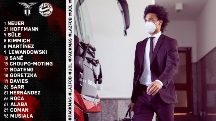 拜仁公布欧冠客战拉齐奥大名单:莱万领衔,穆勒因伤缺阵-今球app官网