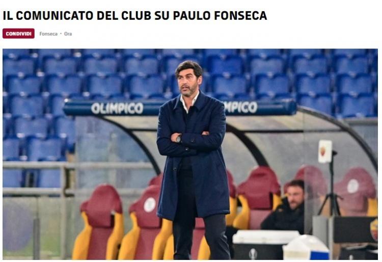 罗马官方:主帅丰塞卡将在本赛季结束后离任-今球app官网