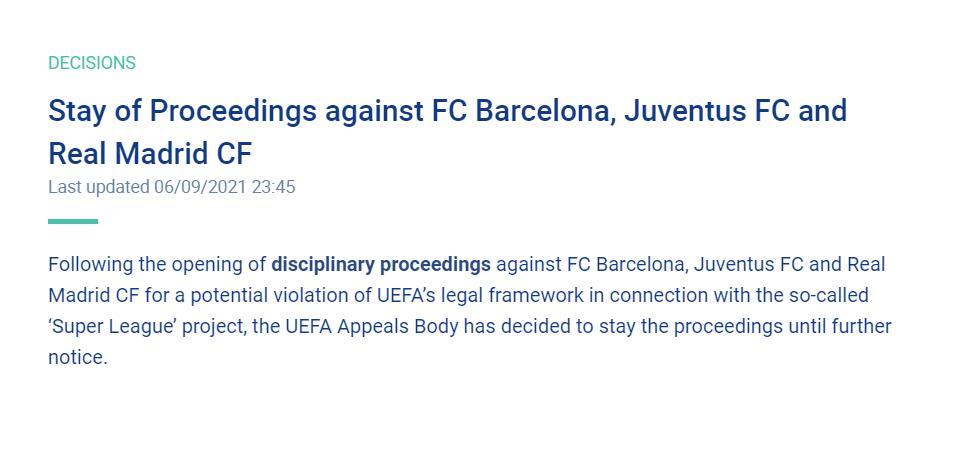 欧足联官方:暂停对皇萨文的纪律调查程序,等待另行通知-今球app官网