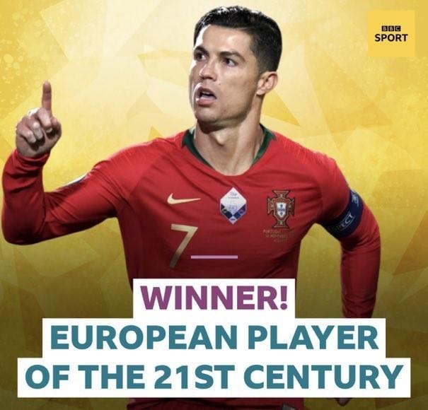 BBC票选21世纪最受欢迎的欧洲球员:C罗当选-今球app官网