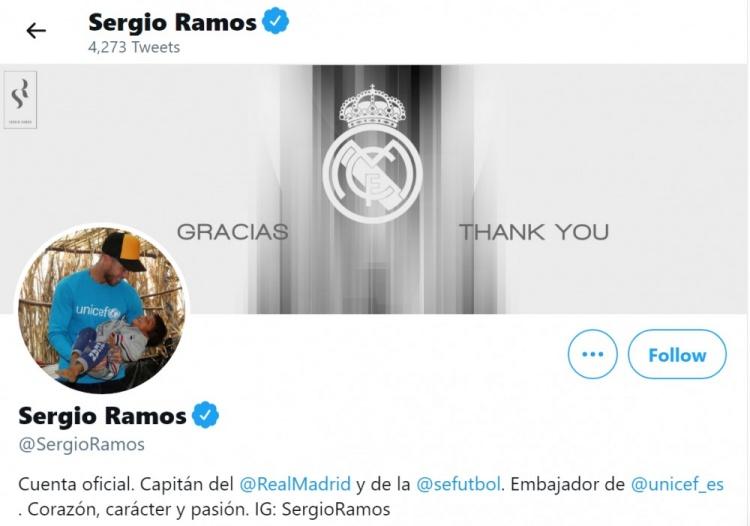 拉莫斯更新社交媒体,向皇马表示感谢-今球app官网